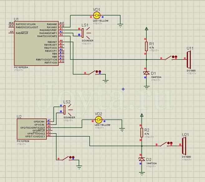 Эмуляция работы схемы в Proteus