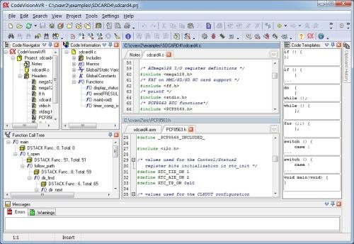 программа CodeVisionAVR 2.05