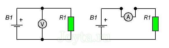 подключение мультиметра при измерении напряжения и силы тока
