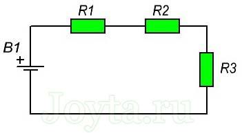 последовательного соединения резисторов