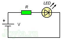 raschet rezistora dlya svetodioda onlajn kalkulyator 111 - Формула расчета резистора для светодиода