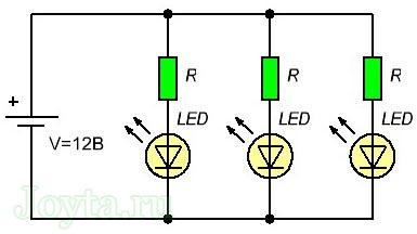 raschet rezistora dlya svetodioda onlajn kalkulyator 115 - Формула расчета резистора для светодиода