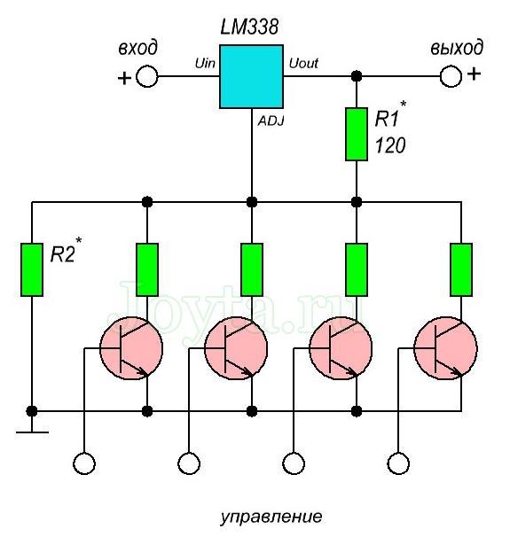 lm338 Источник питания с цифровым управлением