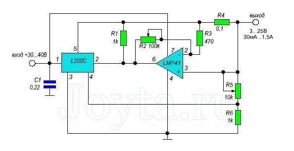 стабилизатор L200c