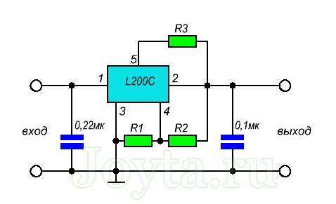 схема включения L200c