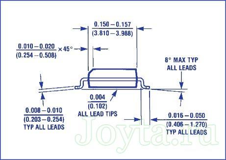 физические размеры LM386
