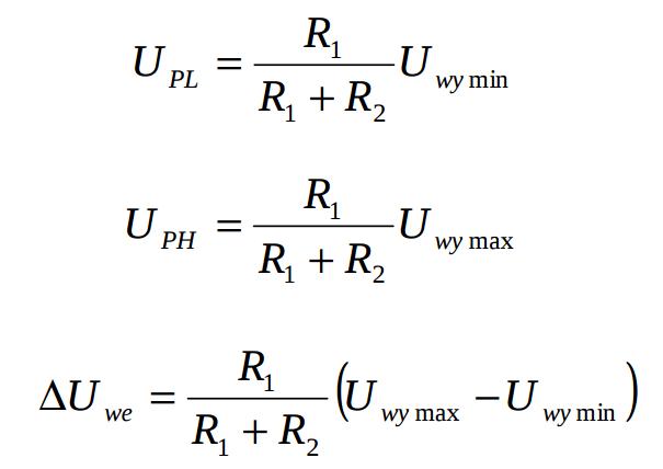 Схема аналогового компаратора с гистерезисом - формула расчета