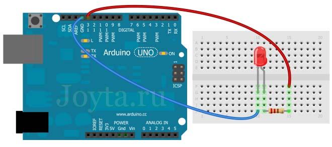 простая схема на Arduino