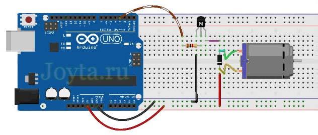 upravlenie-dvigatelya-postoyannogo-toka-s-pomoshhyu-tranzistora-i-arduino-3