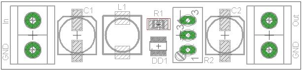 преобразователь напряжения на MCP1640 - плата