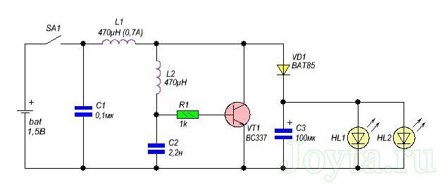 prostoj-svetodiodnyj-fonarik-ot-odnoj-batarejki-15v-1