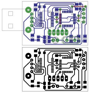 термометр и гигрометр на микроконтроллере Atmega8 плата