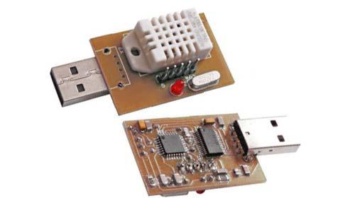 термометр и гигрометр на микроконтроллере Atmega8 фото
