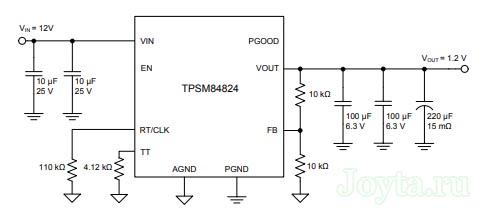 TPSM84824 - типовая схема включения