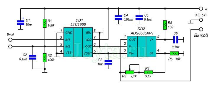 Измерение силы тока при помощи трансформатора тока SCT-013