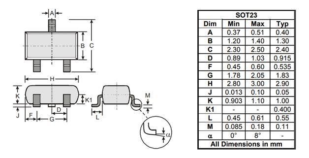 размеры транзистора 2N7002