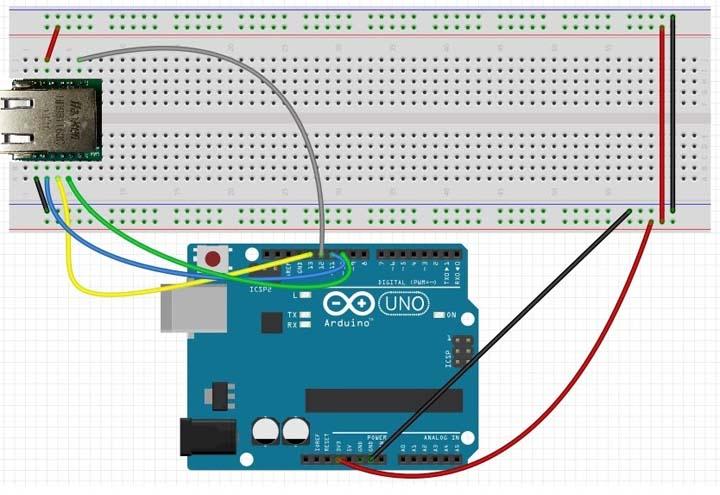 Подключение сетевого модуля W5500 к Arduino