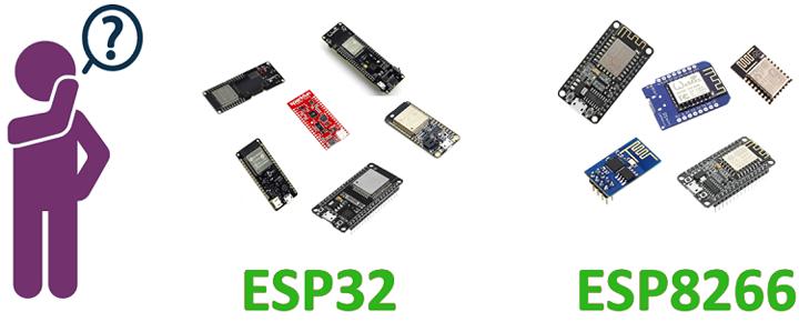 Что выбрать: ESP32 или ESP8266?