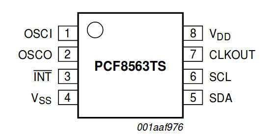 распиновка PCF8563