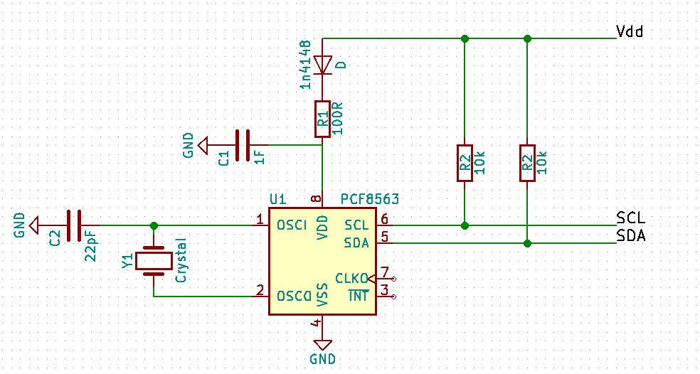 Аварийное электропитание PCF8563 - второй вариант