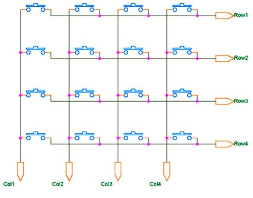 Подключение матричной клавиатуры 4x4 к Ардуино