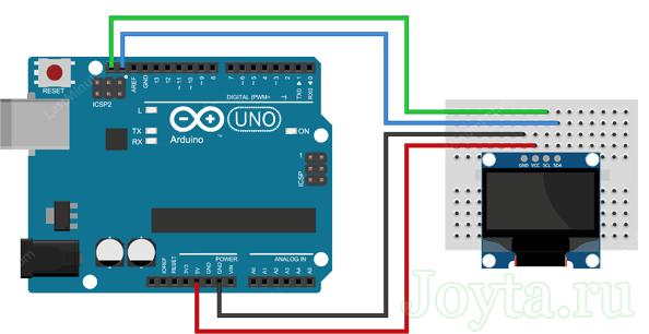 Подключение модуля OLED к Arduino Uno