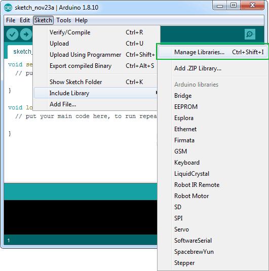 библиотека Adafruit SSD1306