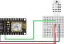Взаимодействие DHT11 DHT22 с ESP8266 NodeMCU с использованием веб-сервера