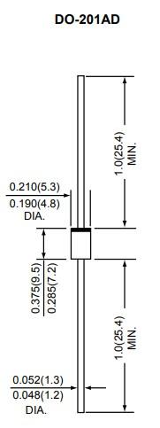 Размеры диода1N5408