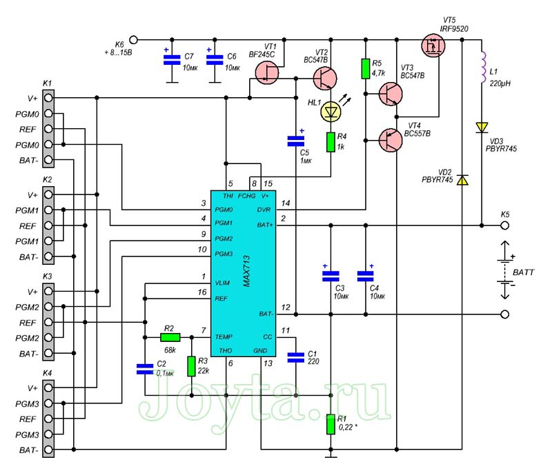 Зарядное устройство для NiCd и NiMH аккумуляторов на MAX712