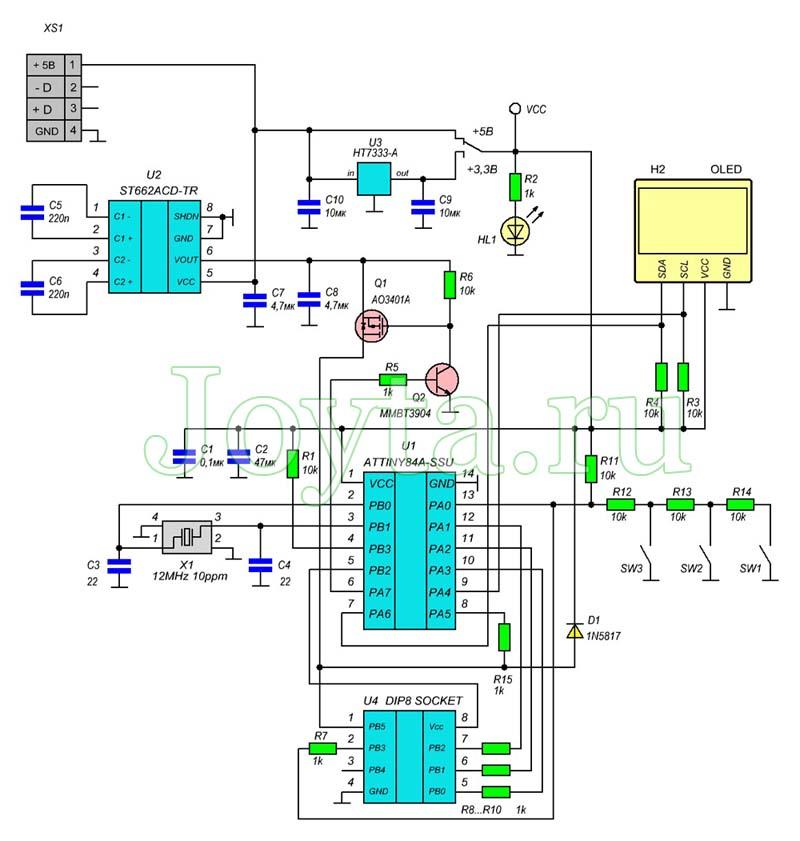 Калибратор OSC генератора и устройство восстановления фьюзов AVR микроконтроллеров