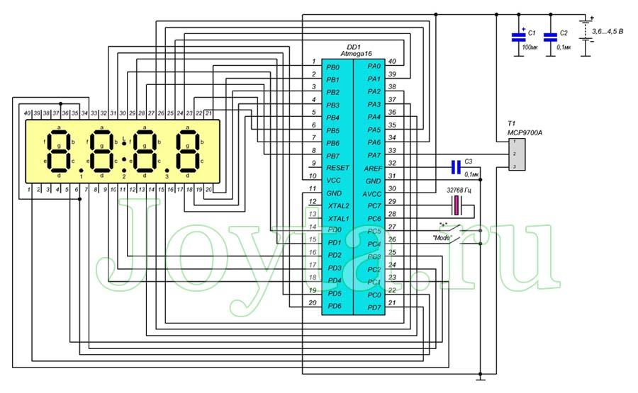 Цифровые ЖК-часы с датой и термометром с автономным питанием