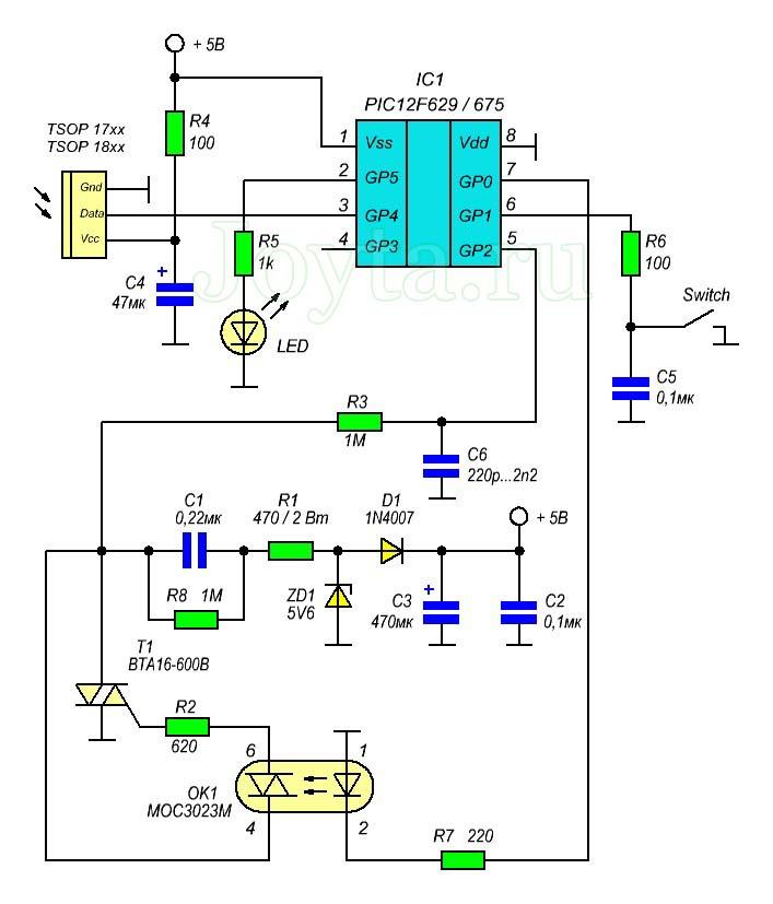 Дистанционный регулятор освещенности на микроконтроллере