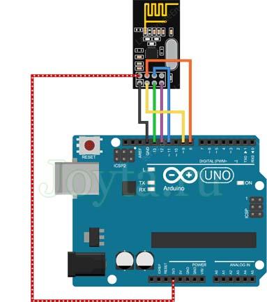 Подключение nRF24L01 + к Arduino UNO
