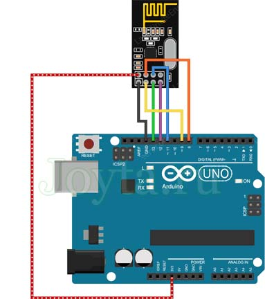Подключение nRF24L01 + PA LNA к Arduino UNO