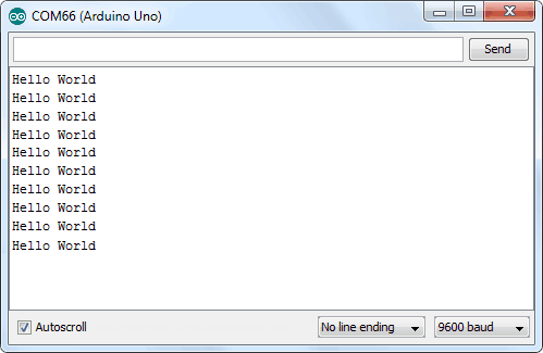 Результат в Serial Monitor